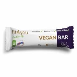 Bílkovinná veganská tyčinka - 60 g - černý rybíz